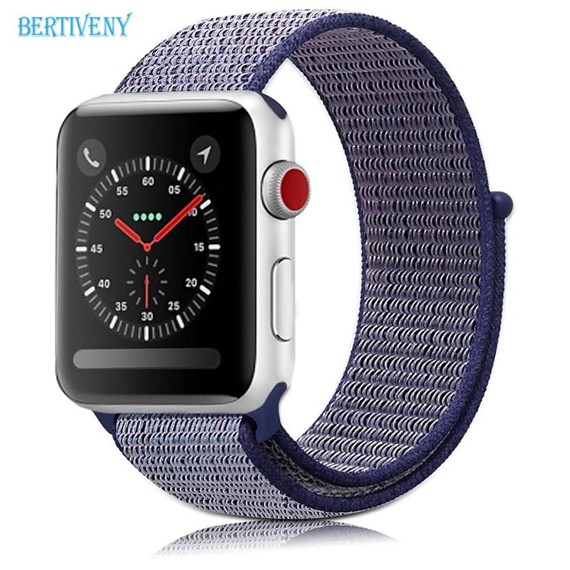 For Apple Watch Band Woven Nylon Sport Loop 38mm 42mm, Lightweight Nylon Bracelet Replacement Wrist Strap for iwatch 3 2 1 woven nylon bands for apple watch band strap 42mm 38mm iwatch serise 3 2 1 nylon wrist band bracelet