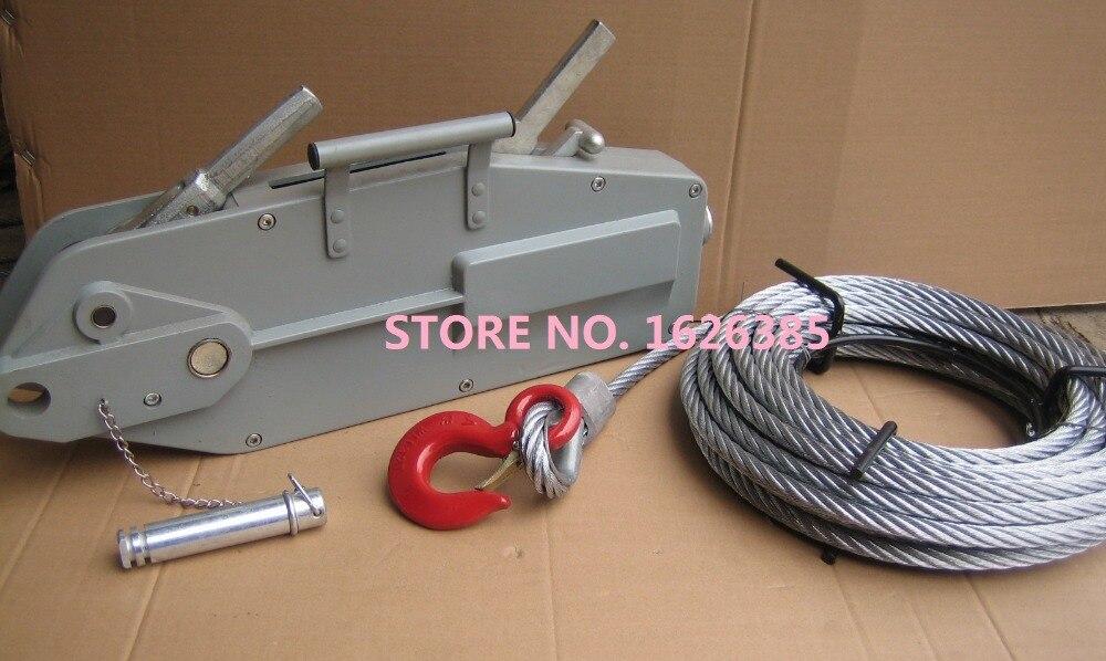 0 8tx20m Aluminum Alloy Manual Wire Rope Pulling Hoist Ce