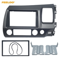 FEELDO Car DVD/CD Radio Audio Fascia Panel Frame Adaptor Fitting Kit For Honda CIVIC(RHD) 2DIN Stereo Plate Frame Instal #FD4401