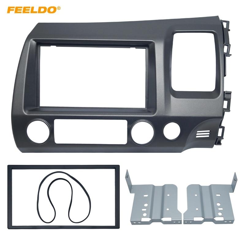 FEELDO voiture DVD/CD Radio Audio Fascia panneau adaptateur Kit de montage pour Honda CIVIC (RHD) 2DIN stéréo plaque cadre Instal # FD4401