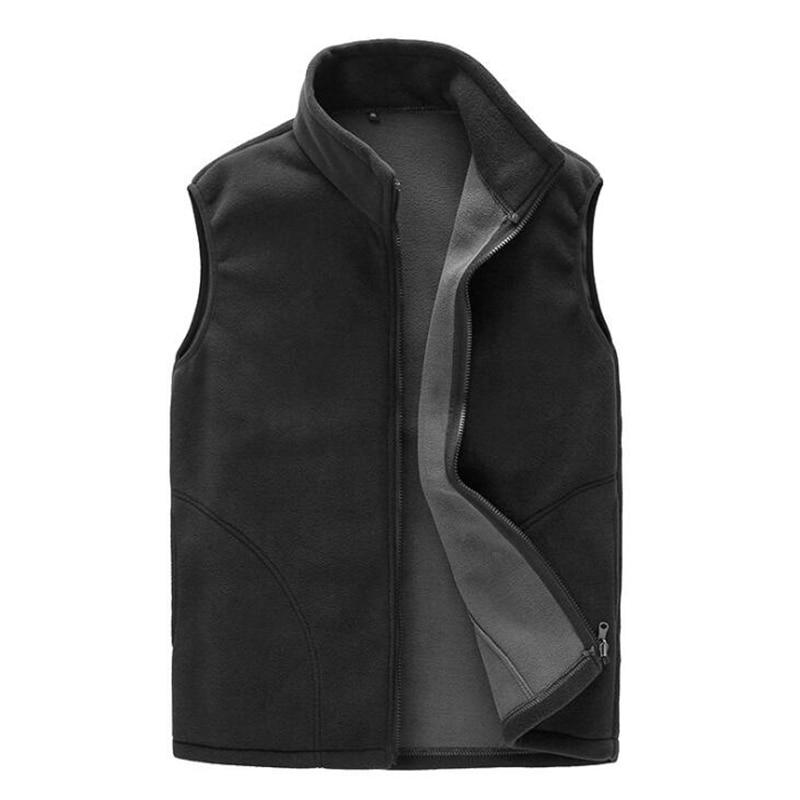 2018 New Casual Vest Men Autumn Winter Warm Thick Sleeveless Jacket Male Waistcoat Windproof Thermal Soft Polar Fleece Vest Men