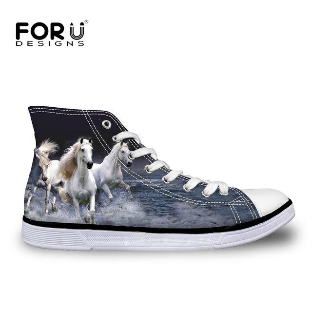 womens Skateboarding Shoes Canvas animal horse Sport Sneaker