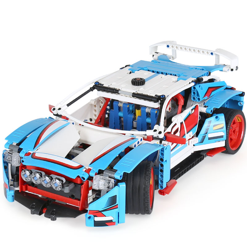 Lepin 20077 Technic Series The Rally Car Set LegoINGlys 42077 Building Blocks Bricks Educational Funny Toys as Children Gifts lepin 16002 2791pcs modular pirate ship metal beard s sea cow building block bricks set toys legoinglys 70810 for children gifts