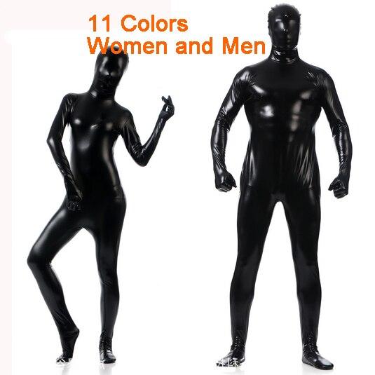 new latex full bodysuit lycra spandex cosplay clothes shiny metallic skin suit catsuit men women. Black Bedroom Furniture Sets. Home Design Ideas