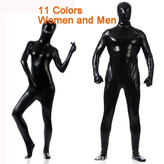 New Latex Full Bodysuit Spandex Cosplay Clothes Shiny Metallic Skin Suit Catsuit Men Women Halloween Zentai Costumes