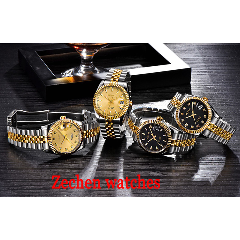 36 mm Debert man stainless steel automatic mechanical watch sapphire commercial waterproof watch цена и фото