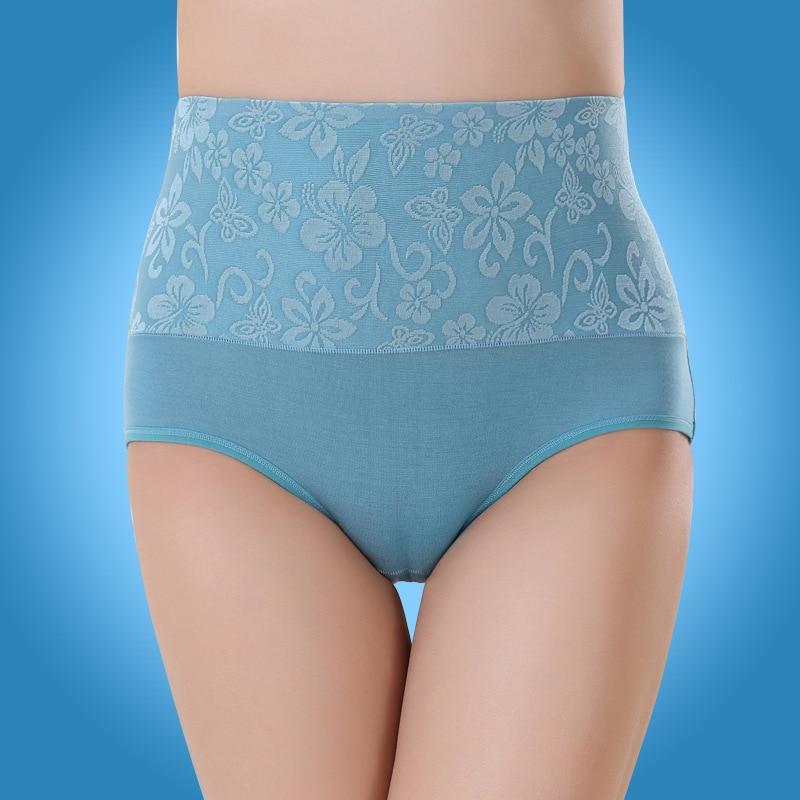 Buy KJ131  Women High Waist Rose Print Underwear Bamboo Fiber Knickers Female Seamless Sexy Panties Calcinhas Para Mulheres