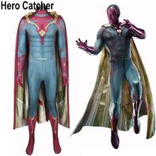 Hero Catcher Vision Cosplay Costume Civil War Vision Costume Avengers Vision Suit For Halloween Custom Made Hero Vision Spandex
