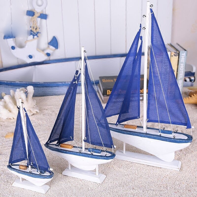 Wooden Sailing Ship Figurine 2