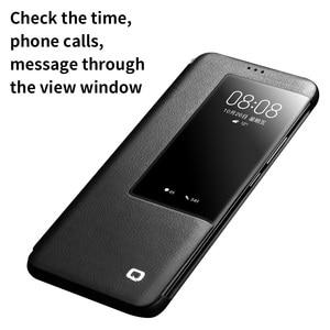 Image 4 - Чехол книжка QIALINO из натуральной кожи для Huawei Mate 20 Pro, Стильный Ультратонкий чехол для смартфона ручной работы для Mate 20/X
