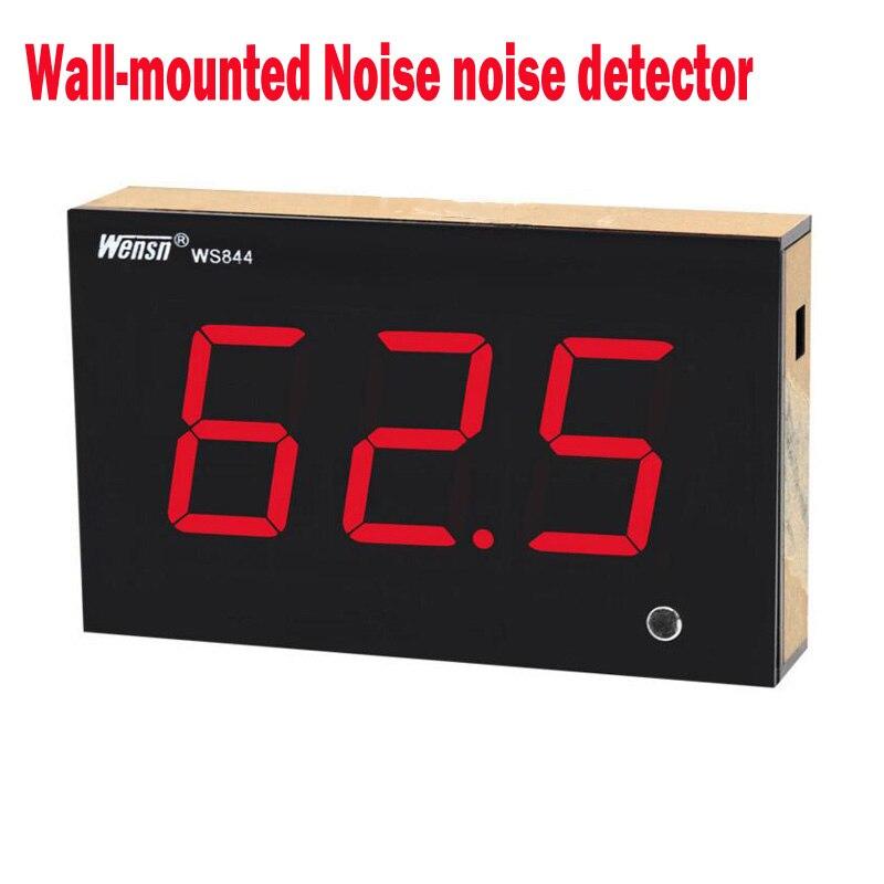 WS844 sonomètre numérique 30 ~ 130dB grand écran affichage mur Restaurant Bar personnalisé testeur de bruit intérieur maison, bureau