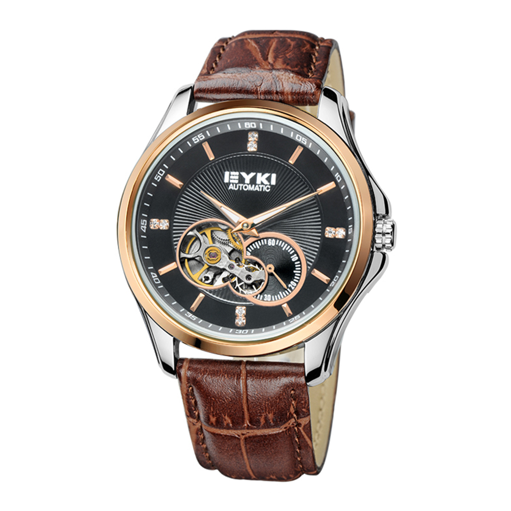 Brand EYKI Roman leisure and business men watch mechanical watch back through the hollow retro 8629