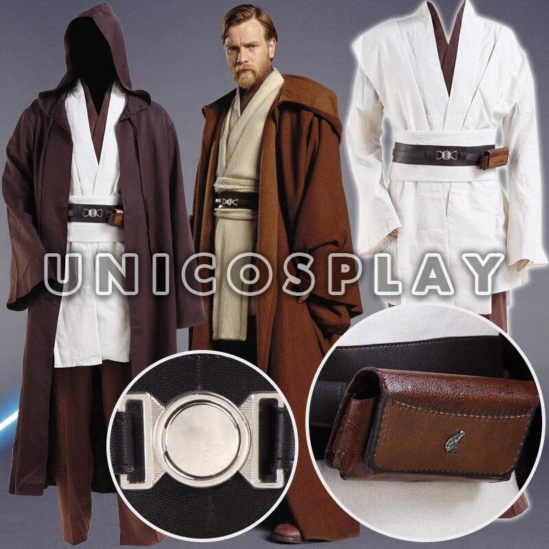 Buy star wars robe obi wan kenobi jedi cosplay costume original robes tunic for Comcostume halloween homme original