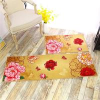 50X80 50X150CM Set Peony Kitchen Mat Home Hallway Doormat Sliding Door Closet Chinese Area Rug Anti