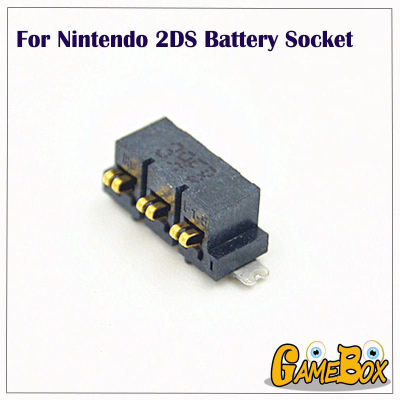 Original Dismantled <font><b>Battery</b></font> Socket For Nintend <font><b>2DS</b></font> Console <font><b>Battery</b></font> Interface Socket Slot image