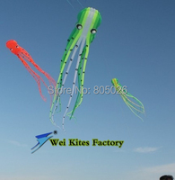 Free shipping high quality 15m Soft Octopus Kites with handle line wei kite fashion kite flying kite outdoor toys rainbow