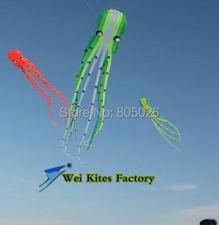 O envio gratuito de alta qualidade 15 m Pipas com linha punho wei pipa Polvo Macio moda pipa pipa voando brinquedos ao ar livre rainbow