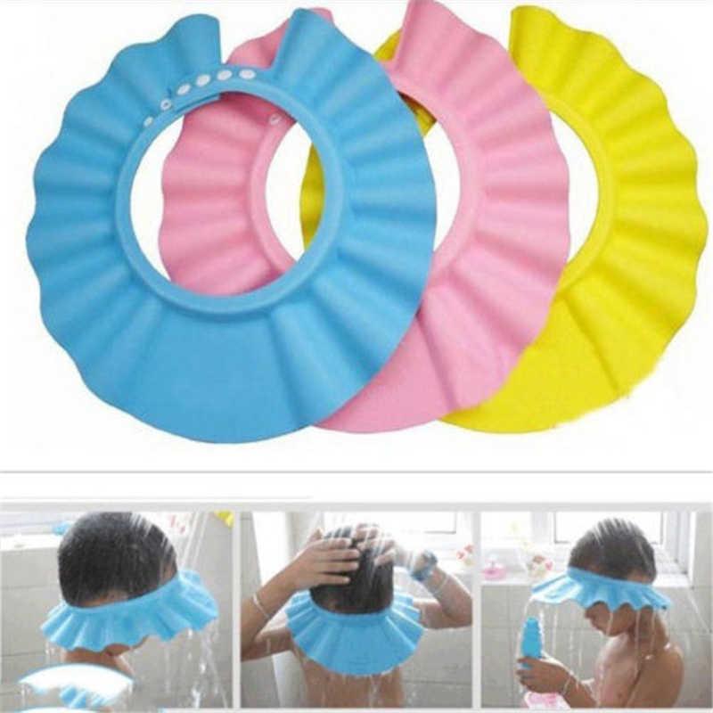 Seguro ducha de baño Baño proteger suave sombrero para lavado de bebé cabello escudo niños baño ducha sombrero de los niños el agua del baño del bebé