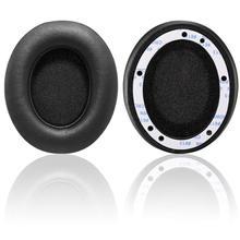 Wantek almofada para fones de ouvido, almofada para fones de ouvido, de couro com espuma de memória, para uso sem fio b0500/b0501