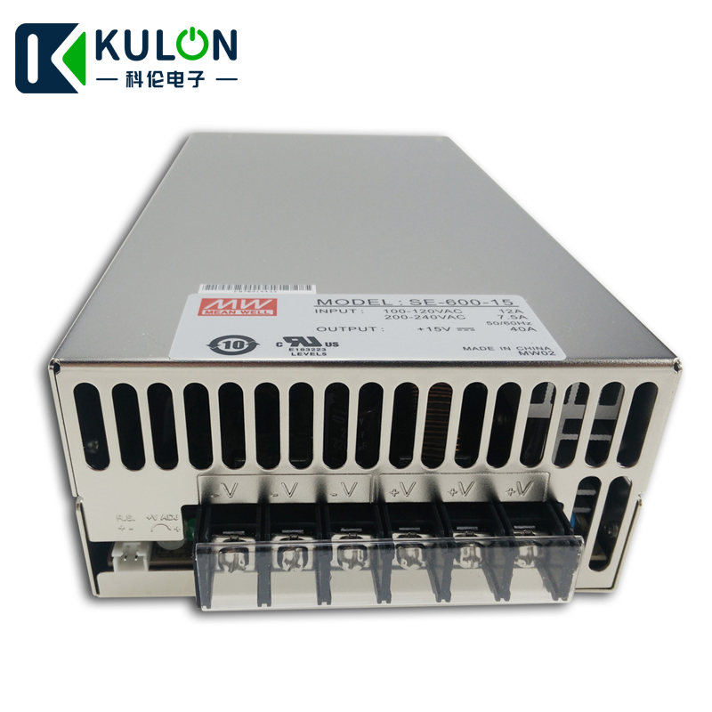 Original MEAN WELL SE-600-15 600W 40A 15V Meanwell Switching Power Supply 15V ac/dc power unitOriginal MEAN WELL SE-600-15 600W 40A 15V Meanwell Switching Power Supply 15V ac/dc power unit