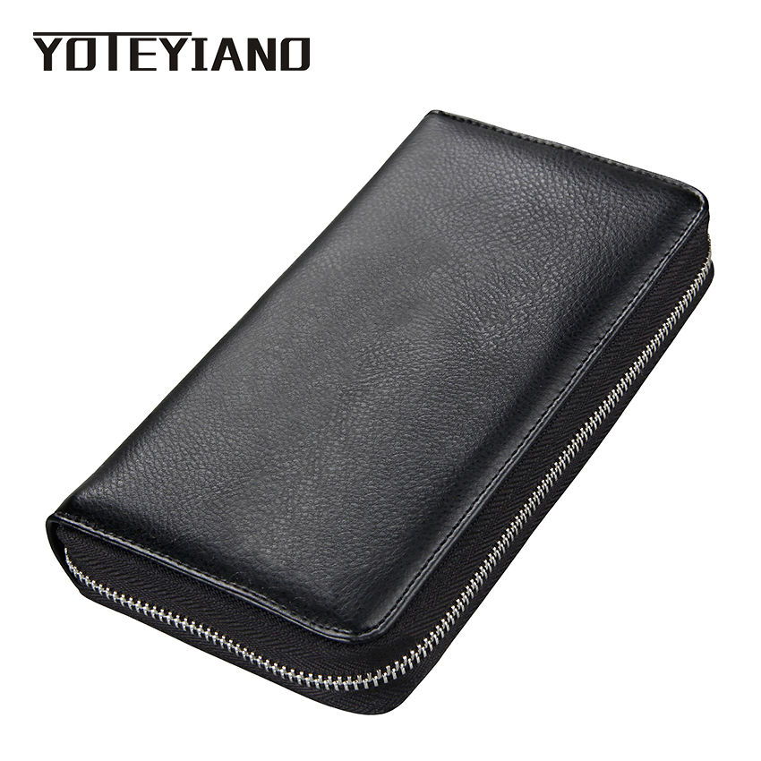 YOTEYIANO Card Holders Large Capacity Card Package Genuine Leather Passport Holder Credit Card Wallet Cell Phone RFID Package