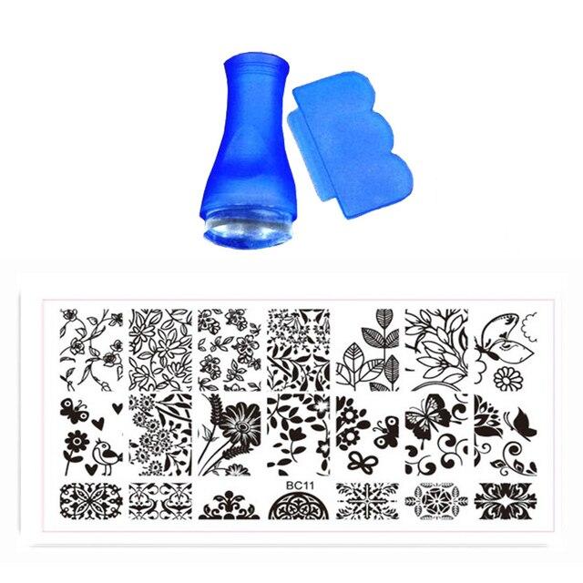 Hot 12x6 Cm Bc Nail Stamping Platten Set Schablonen Für Malerei