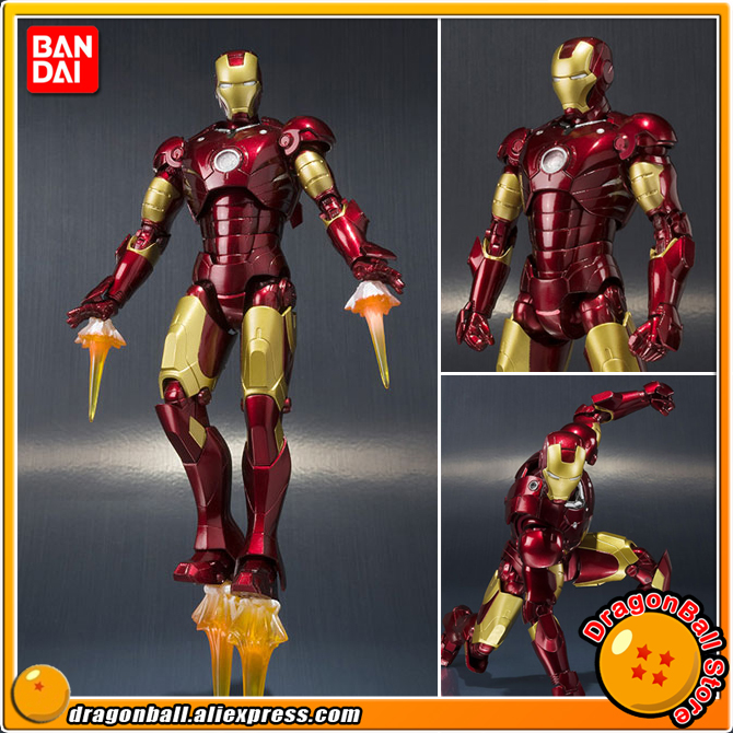 IronMan 100% Original BANDAI SPIRITS Tamashii Nations S.H.Figuarts / SHF Action Figure - Iron Man Mark 3 MK-3IronMan 100% Original BANDAI SPIRITS Tamashii Nations S.H.Figuarts / SHF Action Figure - Iron Man Mark 3 MK-3