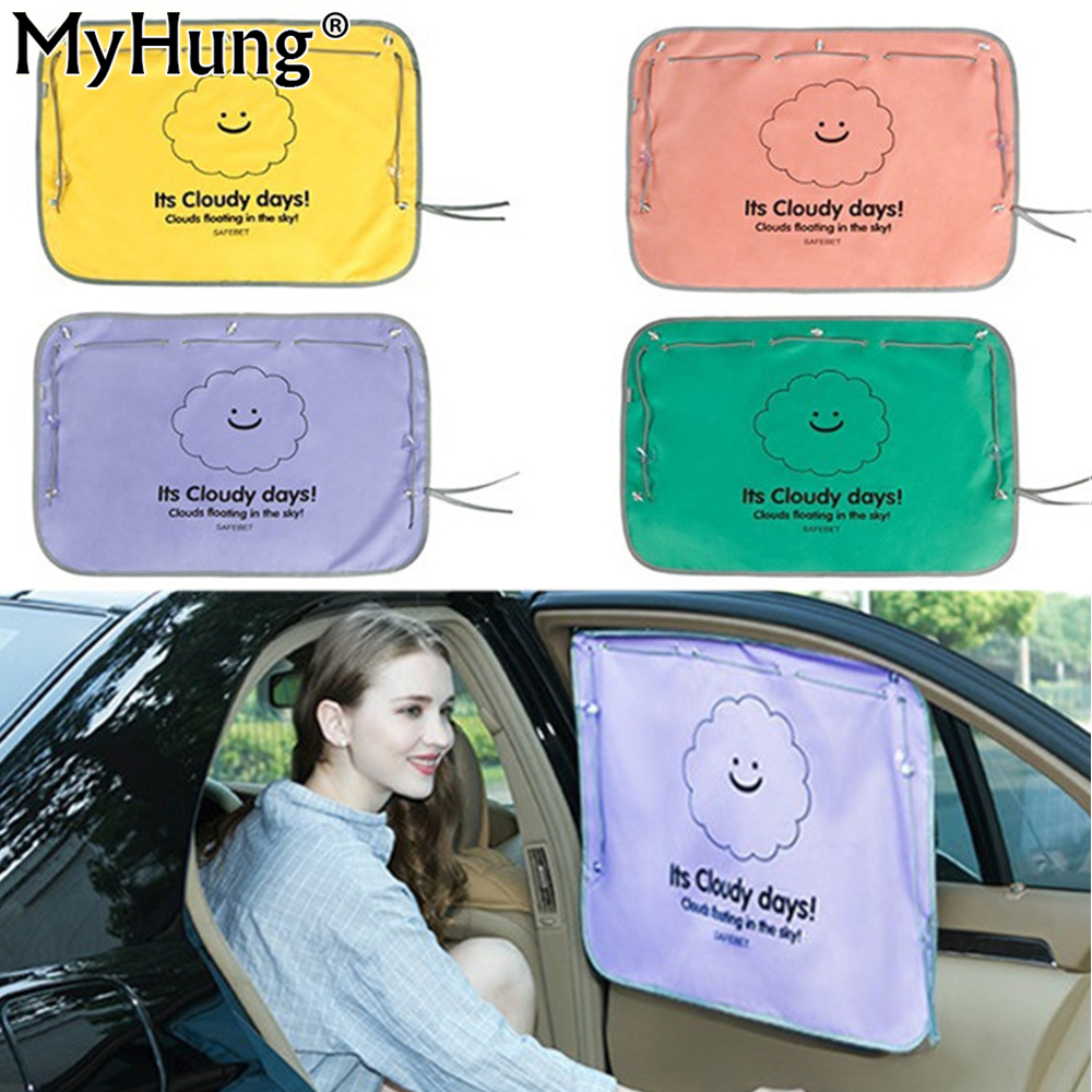Car interior curtains - Automobile Heat Insulation Window Curtain Car Sunshade Curtain Cartoon Shade Block Uv Protection Of Car Accessories