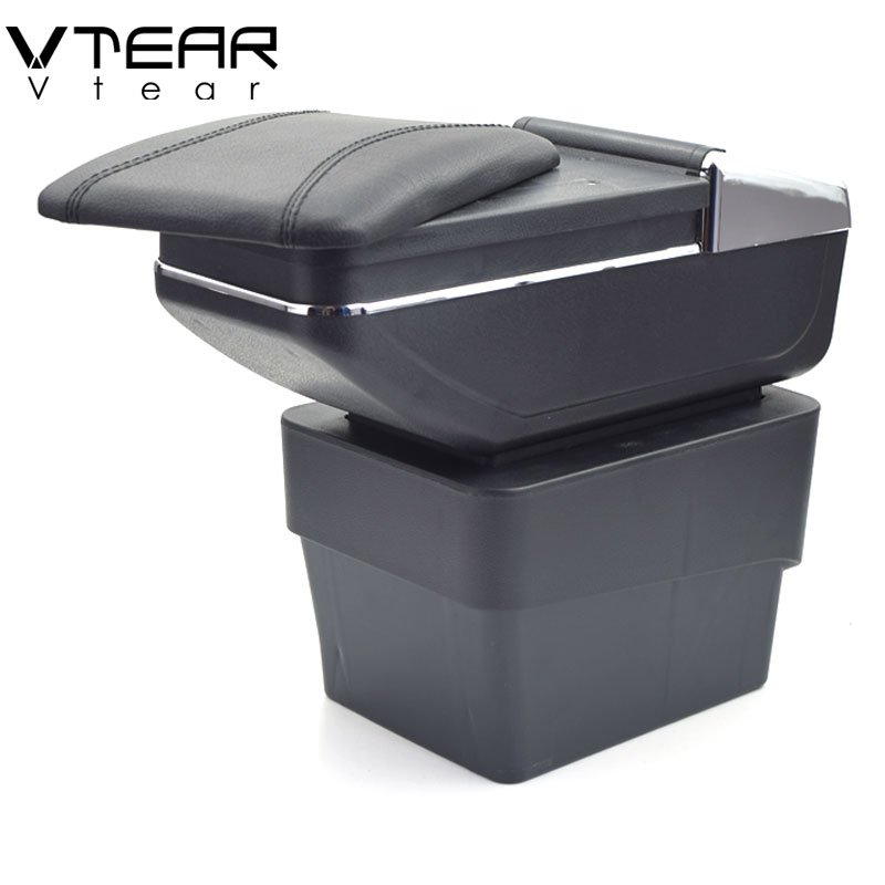 купить Vtear For Skoda Octavia A7 armrest box central Store content box with cup holder interior products interior accessories parts по цене 2273.16 рублей