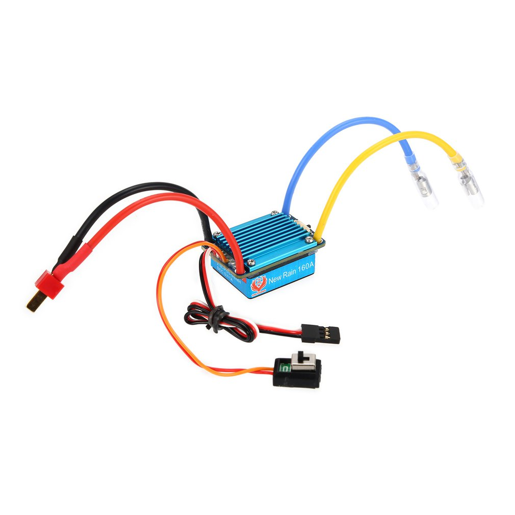 Waterproof Brushed ESC 160A 3S With 5V 1A BEC T-Plug/XT60 -Plug For 1/12 RC Car Multiple Protection Bidirectional Operation Mode