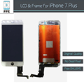 "2 pçs/lote oem novo lcd original para apple iphone 7 plus display LCD touch screen digitador moldura assembléia preto branco 5.5 ""DHL EMS"