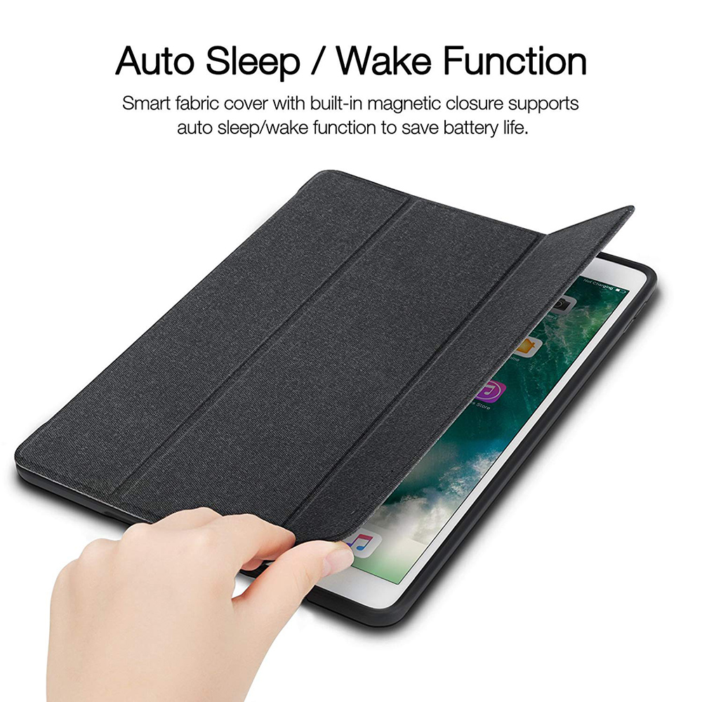 Case For iPad Pro 10.5 With Built-in Pencil Holder Smart Leather Soft Silicone Cloth Case For Apple iPad 10.2 2019 Air 3 Cover
