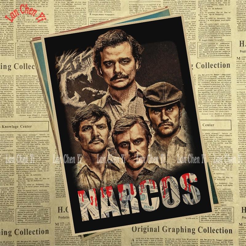 Теледидар ойнау Narcos Season Matte Kraft Paper - Үйдің декоры - фото 6