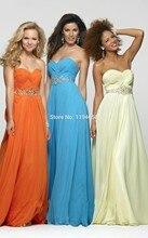 Schöne Elegante Abendkleid Partei Sweetheart Chiffon Promkleider A-line Bodenlangen Formale Kleider Formale 2014