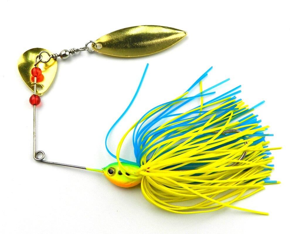 Fishing tackle craft supplies - 5pcs Spinnerbait 16 3g Silicone Skirt Jigs Fishing Lures Fishing Hard Blades Bait Hooks Metal Spoons