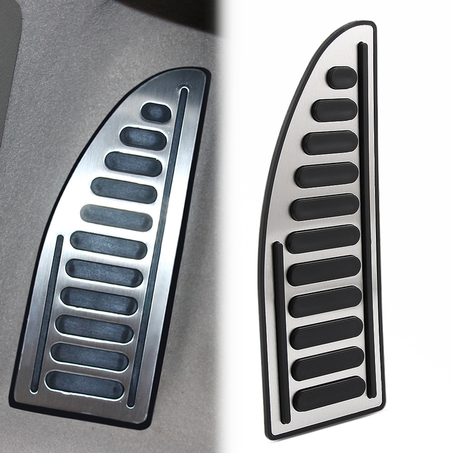 For Ford Focus 2 Focus 3 MK2 MK3 MK4 Fiesta Kuga Ecosport Mondeo Stainless Steel Foot Rest Pedal cover Footplate Footboard Pedal