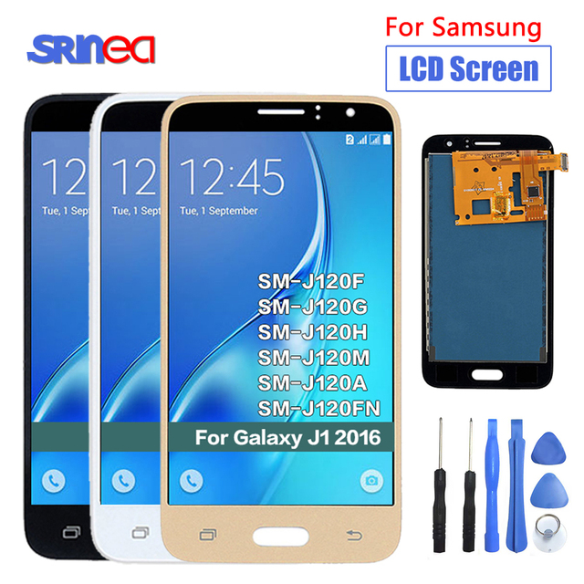 For Samsung Galaxy J1 J120 2016 J120F J120H J120M Tested Display Touch Screen Digitizer LCD Replacement With Brightness Control