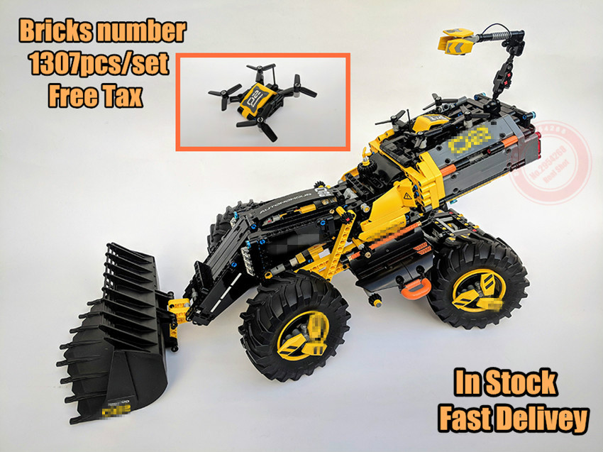 New Technic VO Concept Wheel Loader ZEUX fit legoings technic city truck 42081 Model Building Blocks Bricks Toys diy gift set