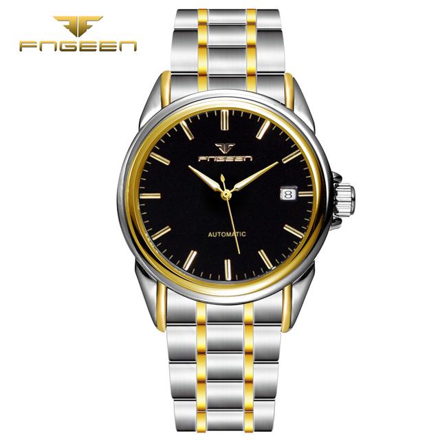 Datajust FNGEEN 6609 Hombres Mecánico Automático Hueco del Reloj de Manera del reloj de calidad superior para hombre famoso reloj resistente al agua