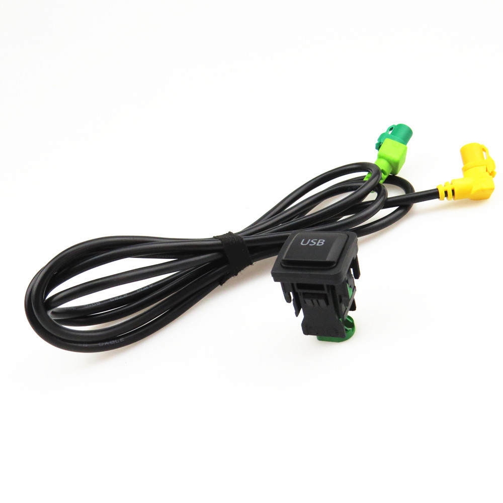 Fhawkeyeq Rcd510 Usb Switch Port Interface   Cable Harness Connector For Vw Golf Mk6 Jetta Mk5
