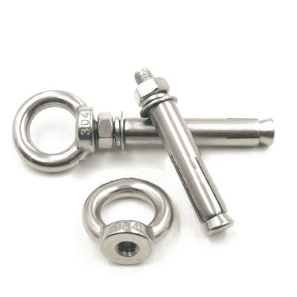 5pcs 304 M6 Eye Bolt Stainless Steel Marine Lifting Eye Bolt Ring Screw Loop Hole for Cable Rope Lifting expansion ring screws 1pcs m10 60 70 150 304 stainless steel ring expansion bolts explosion proof screws ring expansion rings