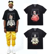 Alta calidad 2017 hombres oversize estilo Rock and Roll t-shirt hiphop  calle algodón streetwear hip hop camiseta manga corta 10b52919009