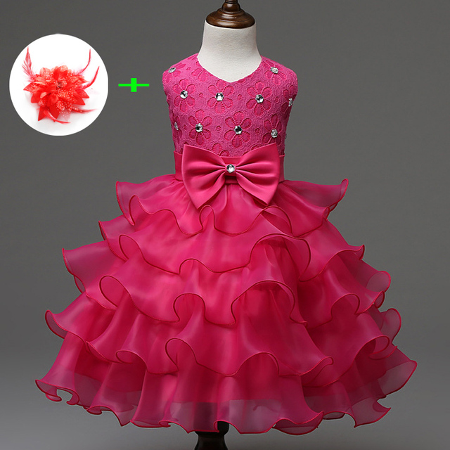 9 Colors Children Dresses New Baby Designer 2017 First Communion Princess Dress 1 Year To