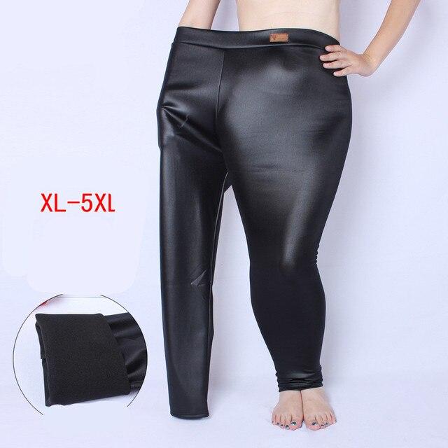 PU Leather Leggings Women High Waist Leggings Stretch Slim Black Legging Fashion PU Leather Pants Women