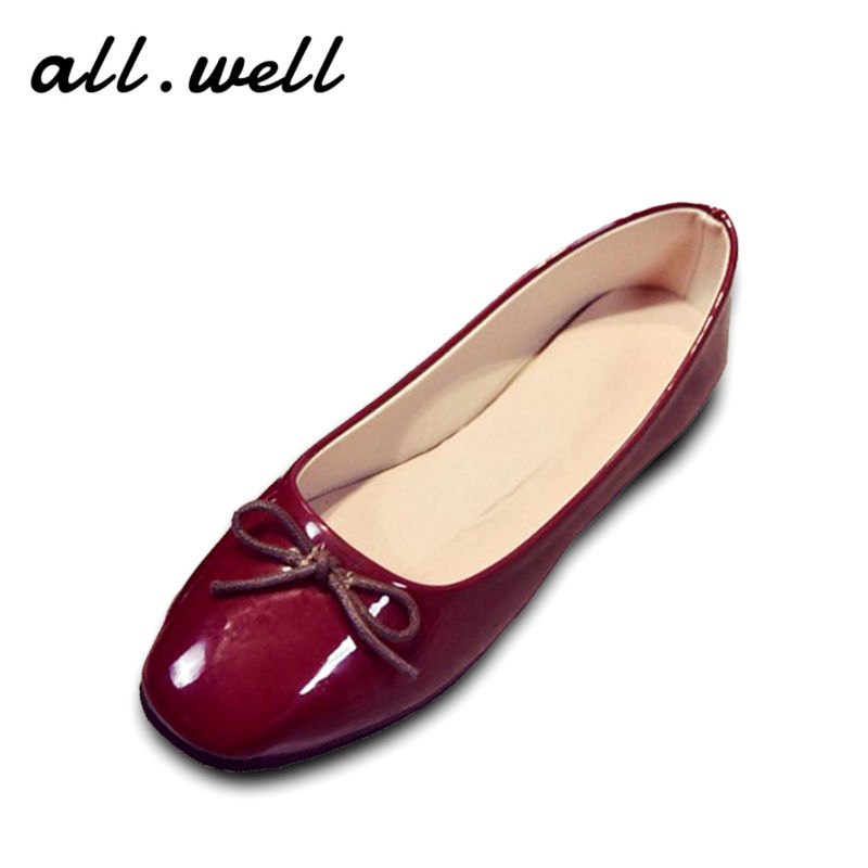 ФОТО New Arrival 2016 A/W Women Fashion Ballet Flats/Designer Brand Quality Casual Bowtie Slip-on Flats Bridal Parties Leather Shoes