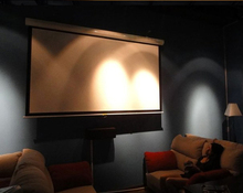 Free shipping! 84 inches 4:3 Manual self-locking Projection Screen pantalla proyeccion for HD projector Pull Down Movie Screen