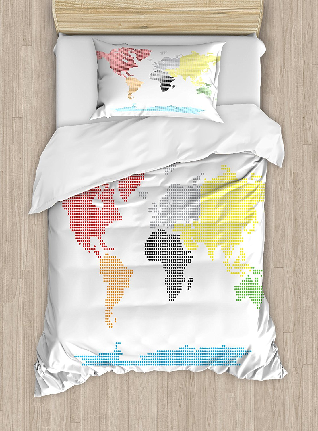 Map duvet cover set artistic vintage world map with watercolor world map duvet cover set digital dotted colorful world map on clear background mod graphic artsy gumiabroncs Image collections
