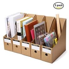 Держатель для журналов, органайзер, коробка, ящик из крафт-бумаги, держатель для файлов, офисные принадлежности, стол, органайзер для хранения документов, коробка для файлов