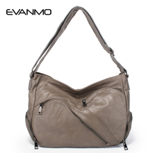 Special Offer Soft Shoulder Bag Genuine Leather Women Hobos Famous Zipper Designer Casual Shopping E