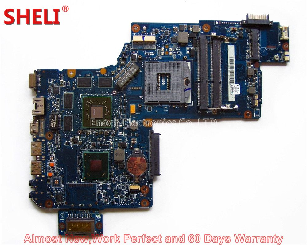 SHELI NEW H000042260 Laptop Motherboard For Toshiba Satellite C870 C875 L870 L875 S875 HM76 HD 7670M 69N0ZXM1NA02 System Board new h000041510 laptop motherboard for toshiba satellite c870 l870 17 3 7610m hd4000 ddr